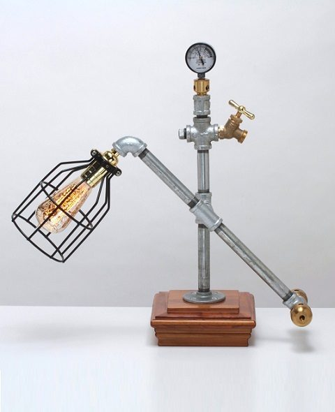 Steampunk desk lamp steampunk desk lamp - Squarecap Steampunk Lamp American Steampunk Lamp Company