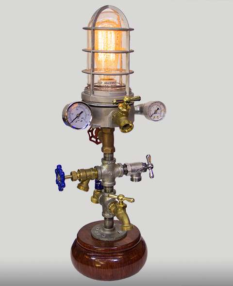 Minaret Steampunk Lamp